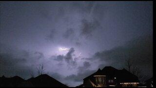 Dark and ominous tornado warning in Frisco, TX