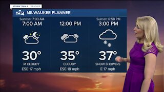 Chilly start to Monday with an afternoon snowfall