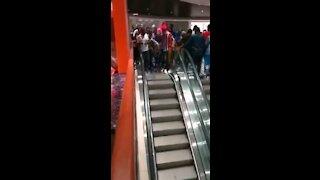 Africans meet escalators in Cameroon