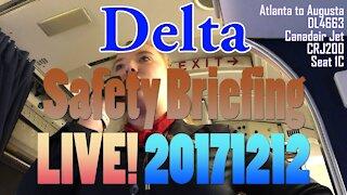 [LIVE] Delta Safety Briefing DL4663 Canadair Jet CRJ200
