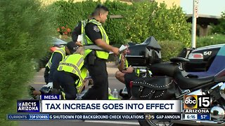 Mesa tax increase goes into effect