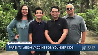 Parents contemplate COVID-19 vaccines for children