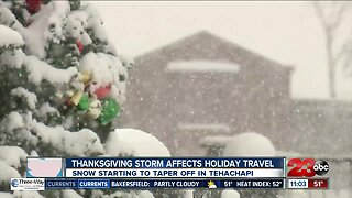 Thanksgiving Storm Affects Holiday Travel