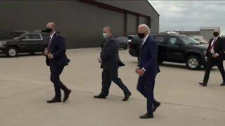 Joe Biden met with Jacob Blake's family after landing in Milwaukee Thursday