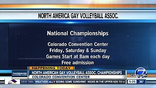 Convention Center hosting volleyball tournament