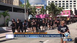 Hundreds raise awareness for human trafficking in West Palm Beach