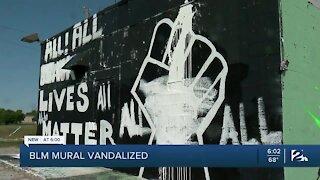 BLM mural vandalized