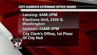 City Clerk office extending hours