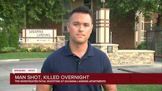 Tulsa police investigating deadly shooting at Savanna Landing Apartments