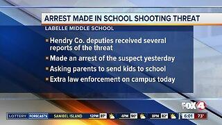 Arrest made in school threat in LaBelle