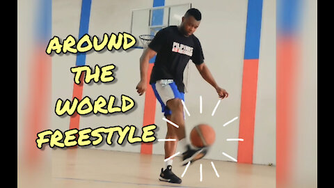 "Obinna Ezeike freestyle ""Around the world"" juggling with basketball"