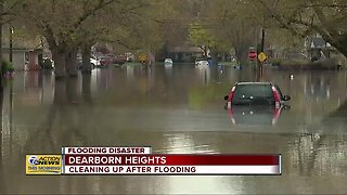 Cleaning up after flooding in Dearborn Heights