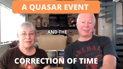 A QUASAR EVENT AND THE TIME CORRECTION