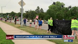 Educators gather in support of black lives