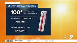 100° heat gives way to windy, cooler conditions for the weekend
