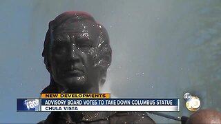 Advisory board votes to take down Columbus statue