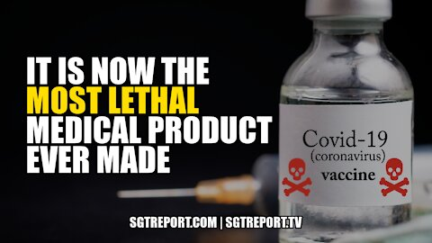 """""""IT IS NOW THE MOST LETHAL MEDICAL PRODUCT EVER MADE."""""""