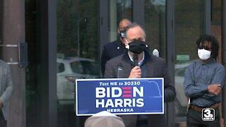 Husband of Kamala Harris, Doug Emhoff makes two campaign stops in North Omaha