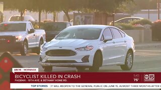 Bicyclist hit, killed near 19th Avenue and Bethany Home Road
