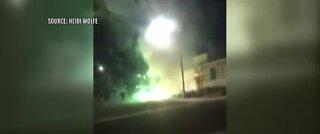 Firework shoots into garage