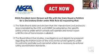 Nebraska State Education Association Press Conference on COVID-19 Safety