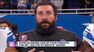Lions coach Matt Patricia a finalist for 'Salute to Service' Award