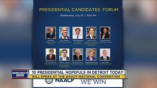 10 presidential hopefuls to speak at NAACP convention in Detroit today