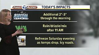 Winter Storm update: Winter Storm Warning through noon today
