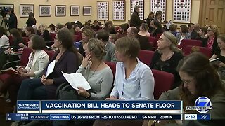 Vaccination bill heads to Senate floor