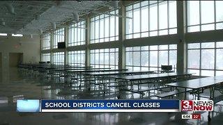 School districts cancel classes