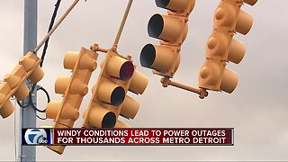 Windy conditions lead to power outages for thousands across metro Detroit
