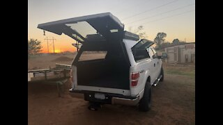 Truck Camper / Raised bed with Storage Build