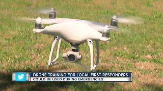 Drone training for local first responders