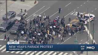 New Year's parade protest