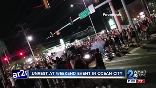 Unrest at weekend event at H2Oi car event in Ocean City