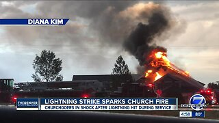 Fire erupts during service at Greeley church after reported lightning strike