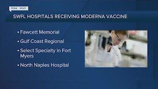 Four Southwest Florida Hospitals to get Moderna vaccine