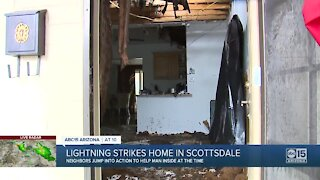 Lightning strikes Scottsdale home with 83-year-old man inside