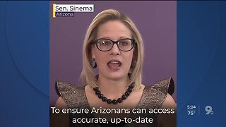 Senator Kyrsten Sinema shares information to Arizonans about coronavirus