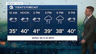 Metro Detroit Forecast: Mix of rain and snow later today