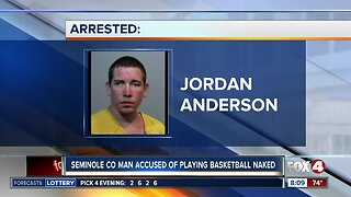 Man accused of playing basketball in public naked