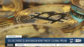 DOJ: Recovered $2.3 million in ransom money paid by Colonial Pipeline