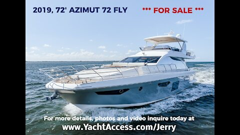 2019, 72' AZIMUT 72 FLY - Boats for Sale