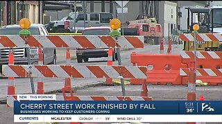 Businesses on Cherry Street working to keep customers coming during construction project