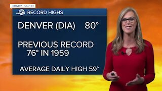 Multiple record highs for the Front Range on Sunday
