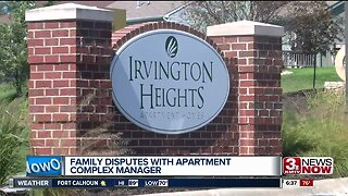 Family disputes with apartment complex manager