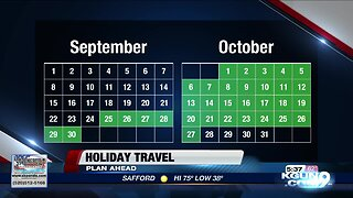 Holiday travel, best time to buy