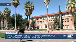 UA students asked to shelter in place