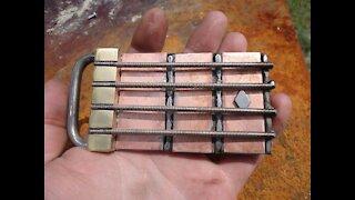 BASS GUITAR Belt buckle!!! RT ARTISAN WORKS!