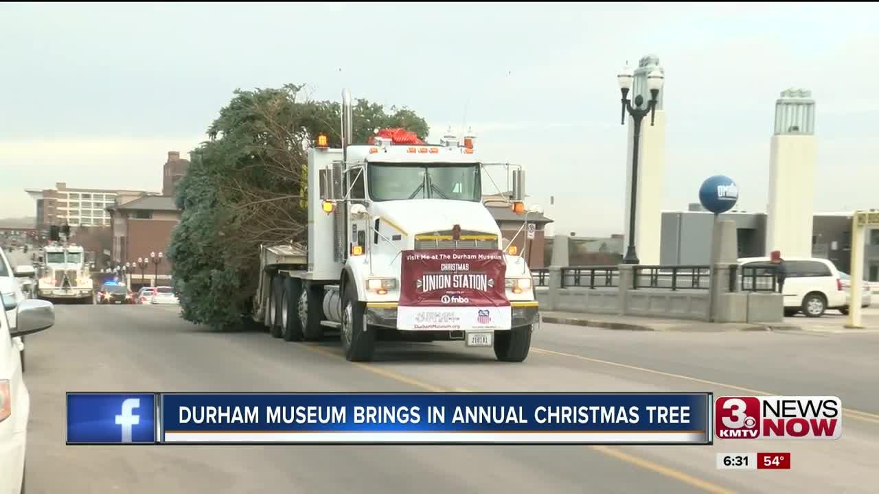 Durham Museum brings in annual Christmas tree